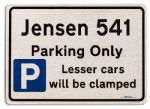 Jensen 541 Car Owners Gift| New Parking only Sign | Metal face Brushed Aluminium Jensen 541 Model